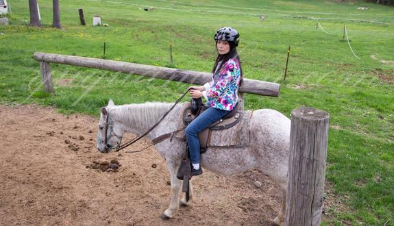Sabrina Yuquan Chen horseback riding